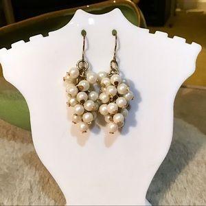 🎁Pearl Cluster Dangle Earrings